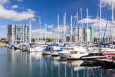 Sutton Harbour Marina Plymouth — Stock Photo