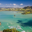 Stock Photo: WhangaroHarbour from St Paul Rock, North Island, New Zealand