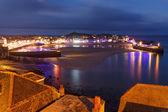 Dusk overlooking St Ives Cornwall — Stock Photo