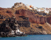 Santorini From The Sea — Stock Photo