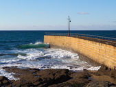Porthleven Pier Cornwall England — Stock Photo