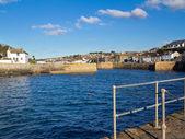 Porthleven harbour cornwall england — Stockfoto
