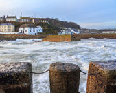 Porthleven Harbour Cornwall England — Stock Photo