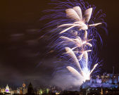 Edinburgh Fireworks Scotland UK — Stock Photo