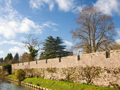 Bishops Palace Moat Well Somerset — Stock Photo