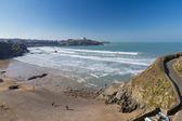 Tolcarne Beach Newquay Cornwall — Stock Photo
