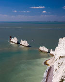 The Needles Isle Of Wight England UK — Stock Photo