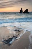Porthcothan bay sunset — Stockfoto