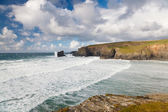 Porthcothan Bay Cornwall England — Stock Photo