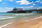 Bournemouth Beach Dorset — Stock Photo