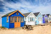 Mudeford Spit Beach Huts — Стоковое фото