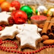 Christmas star cookies - Stockfoto