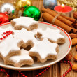 Christmas star cookies — ストック写真