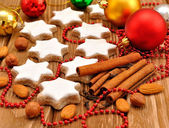 Christmas star cookies with cinnamon — Stock Photo
