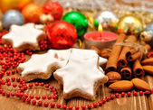 Christmas star cookies — Stock Photo