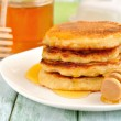 Pancakes with honey — Stock Photo #13348691