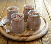 Chocolate Panna Cotta — Stock Photo