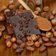 Stock Photo: Chocolate with hazelnuts