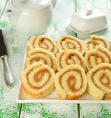 Rolls with cream — Stock Photo