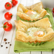 Scrambled Eggs in Puff Pastry — Stock Photo #17977139