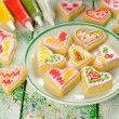 Cookies in the shape of heart — Stock Photo