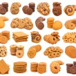 Photo collage of different cookies — Stock Photo