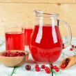 Stock Photo: Cranberry juice