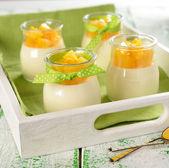 Italian dessert panna cotta — Stock Photo