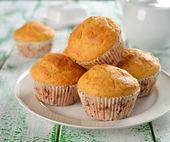 Kukuřičné muffiny — Stock fotografie