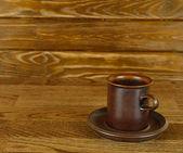 Filiżanka kawy pusty — Zdjęcie stockowe