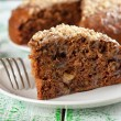 Stock Photo: Walnut cake