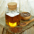 Stock Photo: Linseed oil