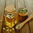 Stock Photo: Pumpkin seed oil