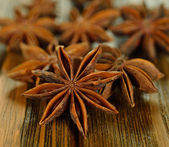 Anise on a brown table — Stock Photo