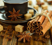 Coffee with spices — Stock Photo