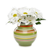 White flowers in a vase on a white background — Stock Photo
