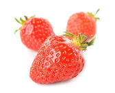 Ripe strawberries macro picture — Stock Photo