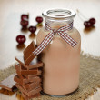 Stock Photo: Chocolate milk