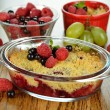 Stock Photo: Berry crumble