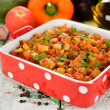 Vegetarian vegetable stew — Stock Photo