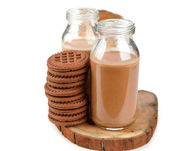 Chocolate drink and cookies — Stock Photo