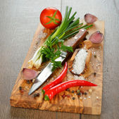 Spices and vegetables — Stock Photo