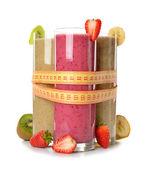 Various fruit smoothies — Stock Photo