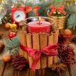 Christmas candle — Stock Photo #30282273
