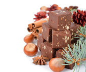 Chocolate fudge — Stock Photo