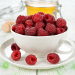 Fresh raspberries — Stock Photo #30494127
