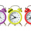 Multicolored clock — Stock Photo