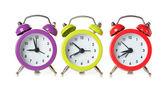 разноцветные часы — Стоковое фото