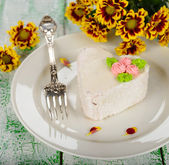 Romantic dessert — Stock Photo
