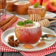 Stock Photo: Baked apples